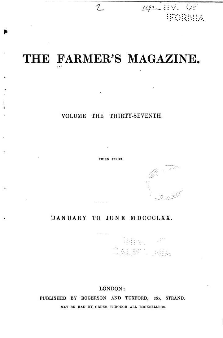 The Farmer's Magazine