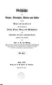 Geschichte der Burgen, Rittergueter, Abteien und KLoester in den Rheinlanden: Volumes 9-12