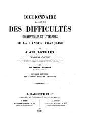Dictionnaire raisonné des difficultés grammaticales et littéraires de la langue française