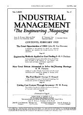 Factory and Industrial Management: Volume 63, Issue 2