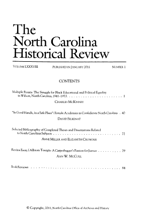 The North Carolina Historical Review PDF