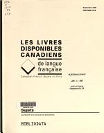 Les Livres disponibles canadiens de langue fran  aise PDF