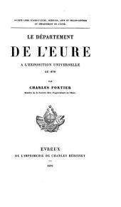 Le département de l'Eure à l'Exposition universelle de 1878