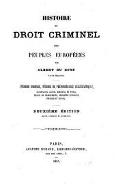 Histoire du droit criminel: Volume1