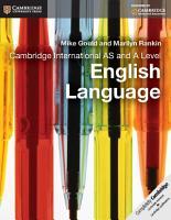 Cambridge International AS and A Level English Language Coursebook PDF