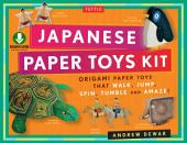 Japanese Paper Toys Kit: Origami Paper Toys that Walk, Jump, Spin, Tumble and Amaze! (Downloadable Material Included)