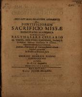 De pontificiorum sacrificio missae exercitatio acad