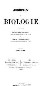Archives de biologie: Volume 14