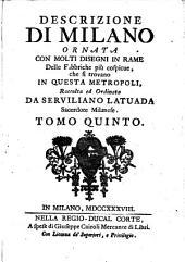 Descrizione di Milano ornata con molti disegni in rame (etc.)