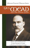 G R S  Mead and the Gnostic Quest PDF