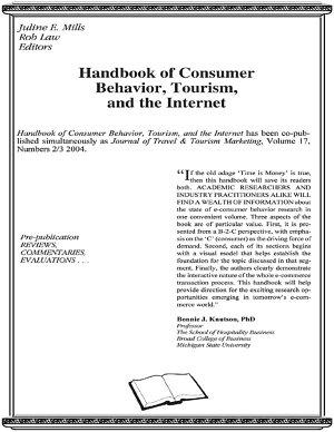 Handbook of Consumer Behavior  Tourism  and the Internet