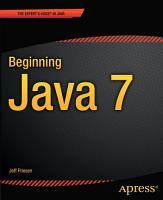 Beginning Java 7 PDF