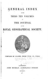 The Journal of the Royal Geographical Society ...: Volumes 21-30