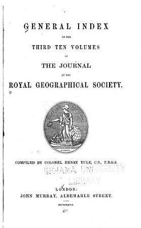 The Journal of the Royal Geographic Society of London PDF