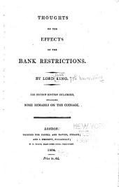 Thoughts on the effects of the bank restrictions
