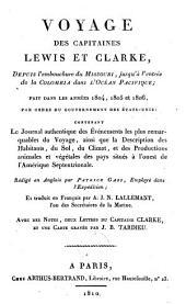 Voyage des capitaines Lewis et Clarke, depuis l'embouchure du Missouri, jusqu'à l'entrée de la Colombia dans l'Océan Pacifique, fait dans les années 1804, 1805 et 1806 [...]