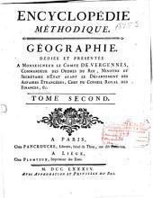 Encyclopédie méthodique: Géographie moderne ...