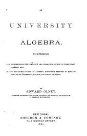 A University Algebra ...