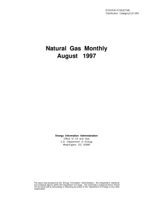 Natural Gas Monthly  August 1997