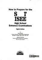 How to Prepare for the SSAT ISEE PDF