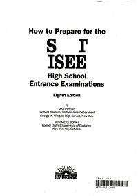 How to Prepare for the SSAT  ISEE High School Entrance Examinations