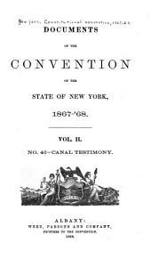 No. 40 - Canal testimony