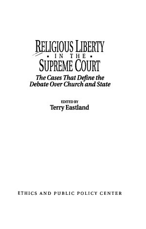 Religious Liberty in the Supreme Court