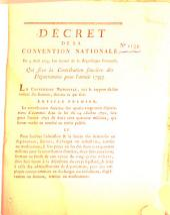 Decret de la Convention Nationale: Volume 1134
