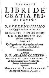 Defensio libri de gratia primi hominis