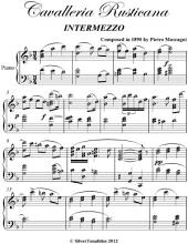 Cavalleria Rusticana Intermediate Piano Sheet Music