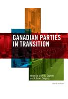 Canadian Parties in Transition  Third Edition PDF