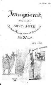 Jean-qui-rerit: douze nouvelles poésies légères