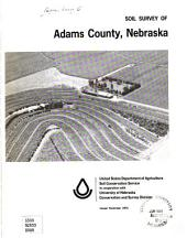 Soil survey of Adams County, Nebraska