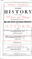 Athenae Oxonienses  An Exact History of All the Writers and Bishops  who Have Had Their Education in the     University of Oxford from the Year 1500 to the End of the Year 1690   etc   PDF