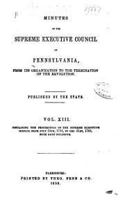 Colonial Records of Pennsylvania: Volume 13