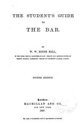 The Student's Guide to the Bar