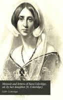 Memoir and Letters of Sara Coleridge PDF