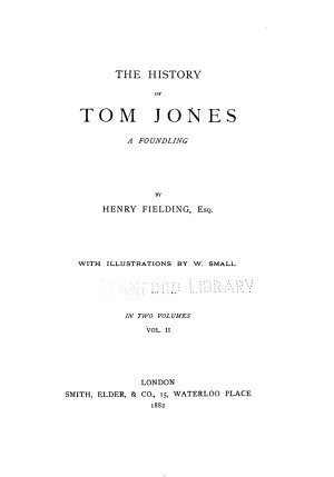 Henry Fielding  by Leslie Stephen  The history of Tom Jones  a foundling PDF