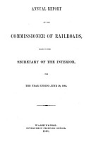 Annual Report of the Auditor of Railroad Accounts to the Secretary of the Interior for the Year Ending     PDF