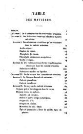 Traité de l'affection calculeuse, ou Recherches sur la formation, les caracatères physiques et chimiques, les causes, les signes et les effets pathologiques de la pierre et de la gravelle: avec cinq planches