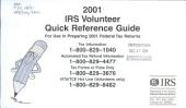 IRS Volunteer Quick Reference Guide: For Use in Preparing ... Federal Tax Returns