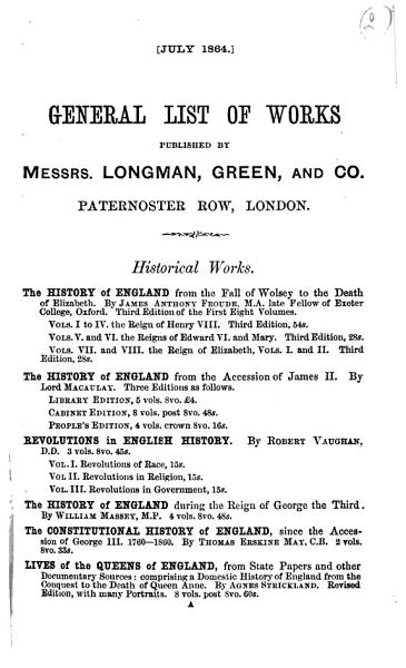 Download General List of Works Published by Messrs  Longman  Green  and Co  Paternoster Row  London Book