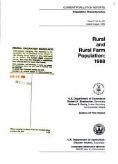 Rural and rural farm population of the United States : 1988