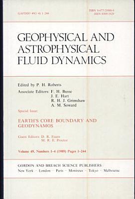 Earth's Core Boundary and Geodynamos
