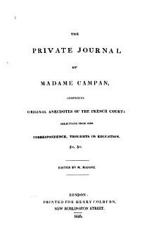 The Private Journal of Madame Campan PDF