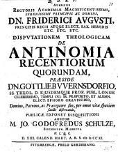 Disp. de antinomia recentiorum quorundam
