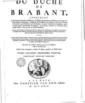 Le grand théâtre du duché de Brabant..., traduit du latin d'Antonius Sanderus par Jacques Le Roy