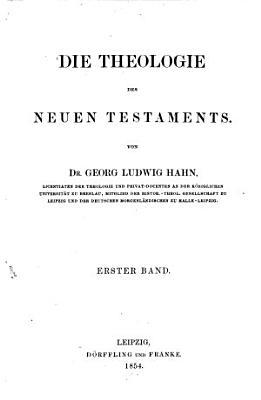 Beitr Ge Zur Theologie Des Neuen Testaments