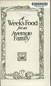 A Week's Food for an Average Family: Issue 1228; Issue 1313