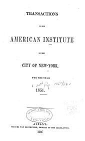 Transactions of the American Institute of the City of New-York: Volume 10